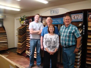 At Castle Floors, members of the team--including (left to right) Daniel Farnsworth, Jim Haynes, Jeanne Haynes, and owner Dean Merrell--offer friendly service along with 50 years of cumulative knowledge to meet the needs of each customer. Photo by Tina Scott
