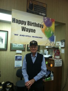 Wayne C. Pomeroy, owner Pomeroy's Men's Store, Mesa's downtown missionary outfitters, turns 90. Photo by Michel Fluhr.