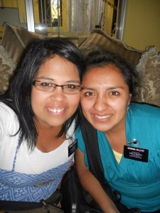 Sister missionaries, Sara Trevino (l), from Arizona, and her companion, Sister Narvaez turned to the Lord during their ordeal after being kidnapped while serving in the Guatemala City Central Mission. Photo courtesy of Sara Trevino.