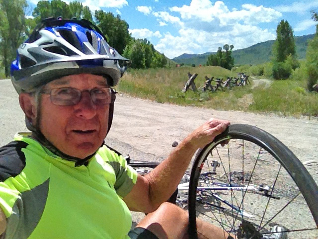 Carefully Watching The Road, Larry Clouse, 74, Avoided Most Obstacles And Had To Fix A Flat Tire Only Once When Biking From Canada To Mexico This Past Summer. Photos Courtesy Of Larry Clouse.