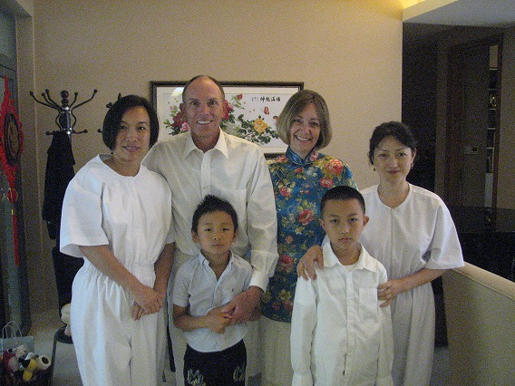 At The Baptism In The Chengdu Branch, (clockwise, L To R), Lyncy, Kirk And Karen Mosley, Lily And The New Converts' Sons, Who Look Forward To Someday Being Baptized.  Photo Courtesy Of Kirk And Karen Mosley
