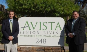 Owner of Avista Senior Living, Kris Woolley, (l) and executive director Beau Ayers are passionate about providing excellent housing and care for their residents. Photo courtesy Avista Senior Living.