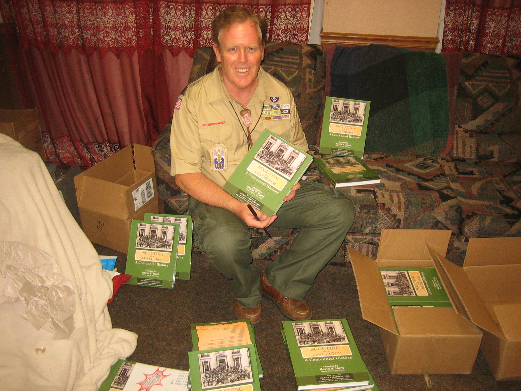 Mesa Scouter, Kevin Hunt, Was Part Of A 10-writer Team That Collaborated On Century Of Honor That Chronicles The History Of Scouting In The Church. He Also Revised A Book Of His Own, Called Scouting In The LDS Church: A Centennial History, That He Says Complements The Other Book. Photo Courtesy Kevin Hunt