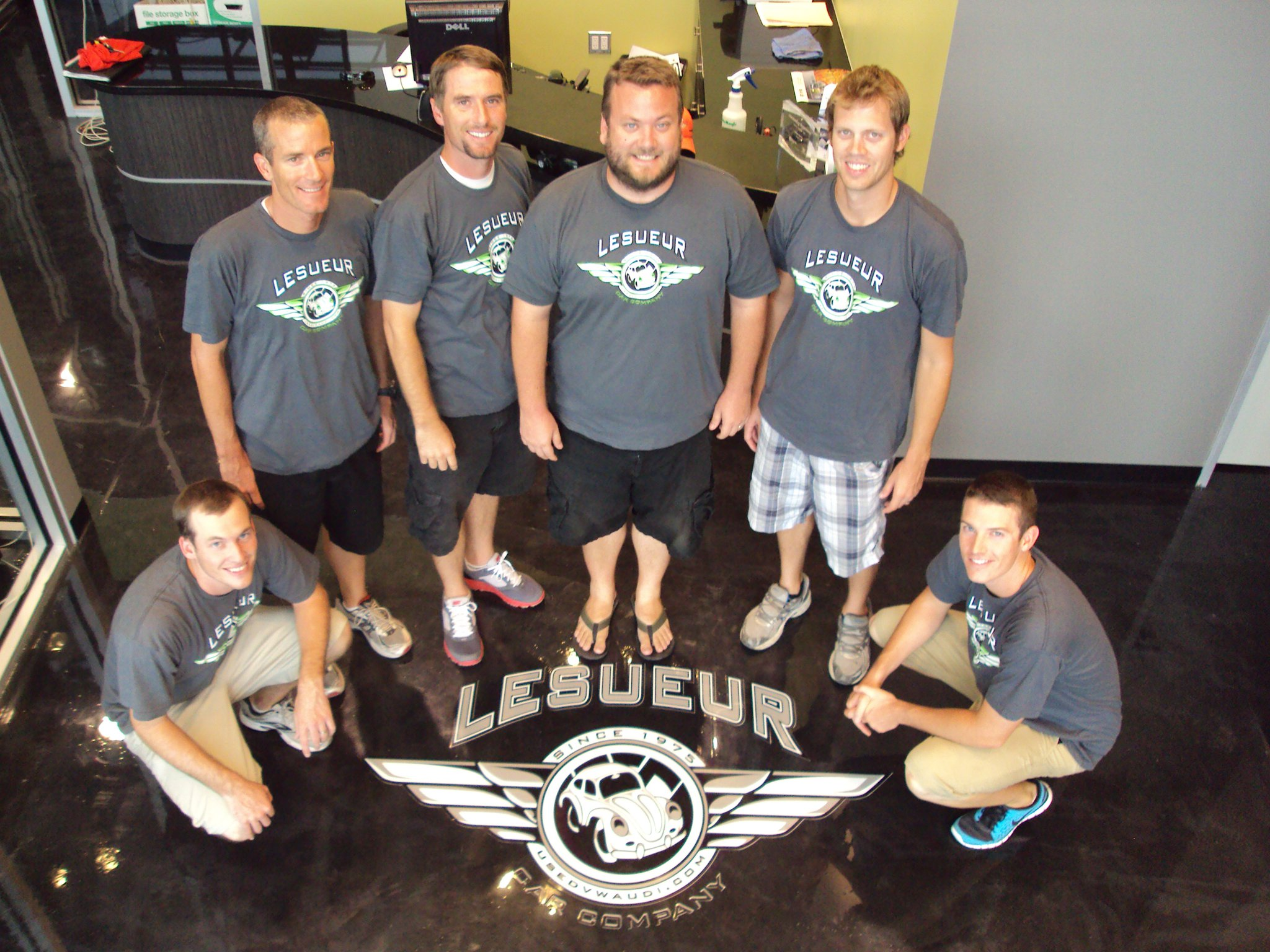 "At LeSueur Car Company, Customers Find The Excellent Value Of ""new Car Standards At Used Car Prices,"" And A Knowledgeable And Customer-oriented Staff, Including (l To R) Ryan LeSueur, Kris LeSueur, Steven LeSueur, James LeSueur, Ryan Biggs And Joe Grimes. Photo By Ryan Biggs."