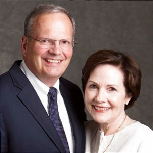 Scott Cameron, with his wife, Christine, is serving as the new Director of the Mesa Temple Visitors' Center. Photo courtesy Scott and Christine Cameron.