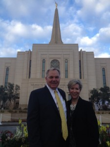 Elder Leonard D. Greer , with his wife, Julie, at the Gilbert Temple dedication, was one of the 42 new Area Seventies announced in April General Conference. Photo by Denny Barney.