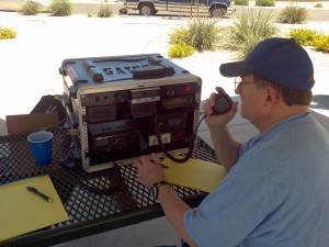 As part of the stake's emergency response plan, Dennis Lawrence, who got his amateur radio license about three years ago, works with Joe Sammartino and others to help stake members learn about amateur radio, purchase radio equipment and become licensed as radio operators.