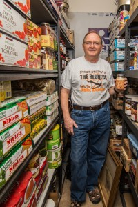 When it comes to emergency preparedness, Dennis Lawrence believes that both food storage and skills are important. He has canned dozens of bottles of meat and bakes bread every week.