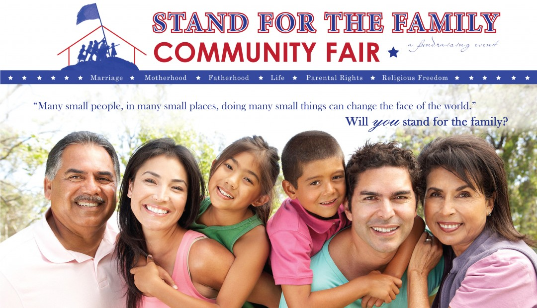 The Stand for the Family Community Fair offers fun, entertainment and food for the entire family, along with opportunities to learn more about how to join with like-minded people to take a stand for marriage, the family, life, parental rights and religious freedom.