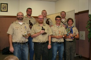 Jacob Hartwig, front row, far right is the newest Eagle Scout in David and Carol Hartwig's family of seven boys. Pictured with Jacob are his brothers Robert, Dean Russel, Eric, and Jacob in the front row. In the back row are Matthew, Bradley, and Ryan. Photo by Jesus Elizondo