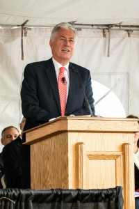 "At the Tucson Arizona Temple groundbreaking ceremony on October 17, Elder Dieter F. Uchtdorf, second counselor in the First Presidency, said members of the first presidency typically don't attend groundbreakings and he was grateful to have the opportunity to be in Arizona where he has a ""special personal relationship."" Photo by John Power, Biltmore Photo."