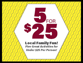 5 For $25:  Low Cost Family Fun!