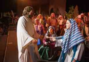 With this year's cast of approximately 475 people, the Mesa Easter Pageant will again depict the life, mission and miracles of Jesus Christ and the meaning of His resurrection. Photo by John Power, Biltmore Photo