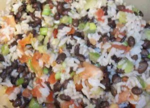 Black bean, Rice & Feta Salad