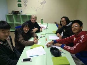 The two-week American Experience Winter Camp was held in Taiyuan, China, where young Chinese students learned leadership skills and poetry from Sister Stephanie Abney. Photo courtesy of Stephanie Abney.