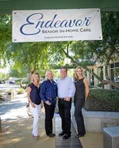 Endeavor Home Care began in 2015 with (from left to right) Quincy Bosley, former customer service specialist, owners and founders Nancy and Dave Rodgers, and Keren Montandon, community liaison. Today Endeavor employs over 80 staff and caregivers. Photo courtesy of Dave Rogers