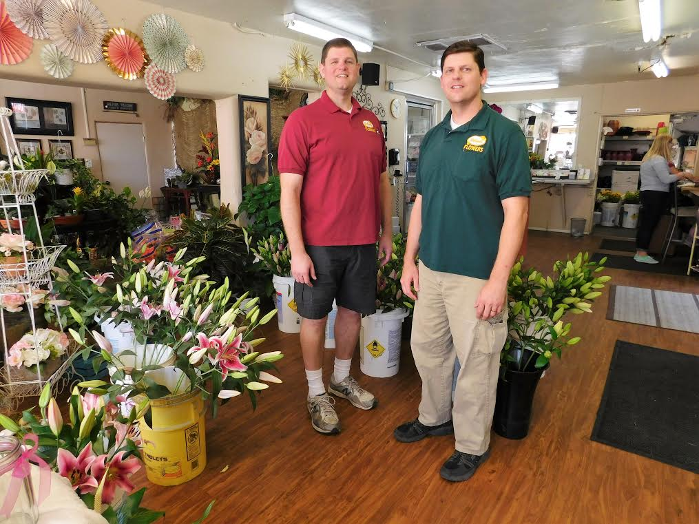 Watson Flowers, a fourth-generation family business, owned by Nathan (l) and Jacob Johnson, prides itself in offering the