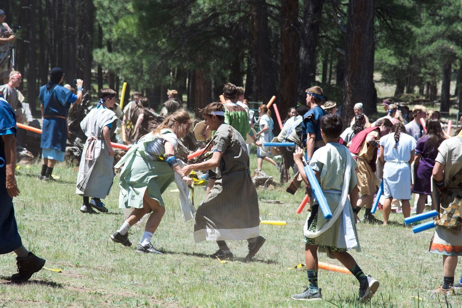 Lehi Youth – A Battle Between The Nephites And Lamanites. Photo By Marci Shill