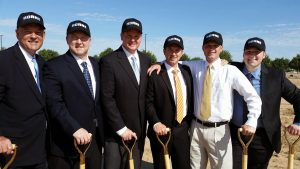 Robert Horne and his sons—Aaron, Adam, Andrew, and son-in-law Martin Jones at the Horne Kia in Gilbert Ground Breaking. Photo Courtesy of Lisa Horne