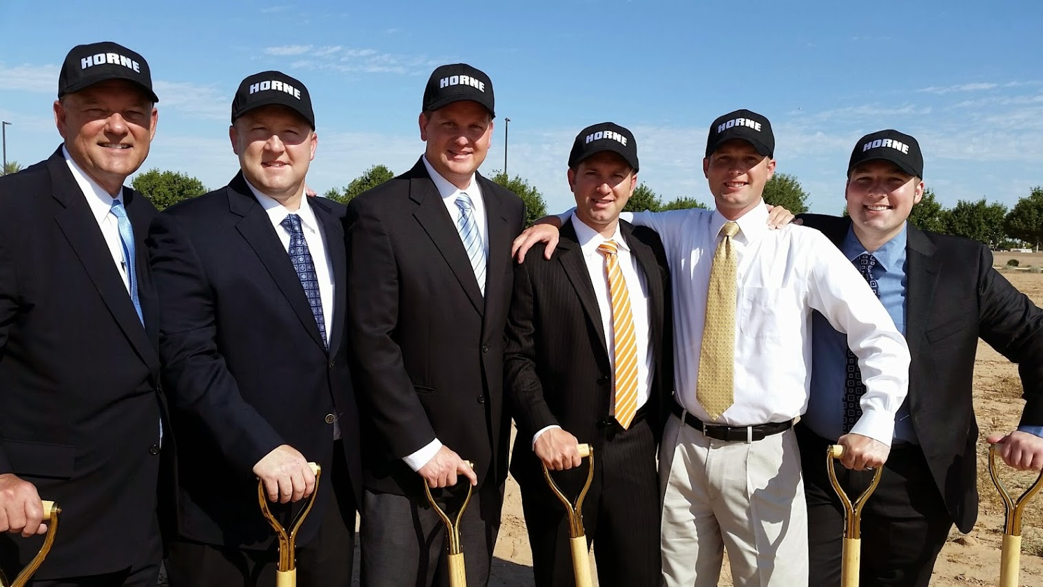 Robert Horne And His Sons—Aaron, Adam, Andrew, And Son In Law Martin Jones At The Horne Kia In Gilbert Ground Breaking. Photo Courtesy Of Lisa Horne