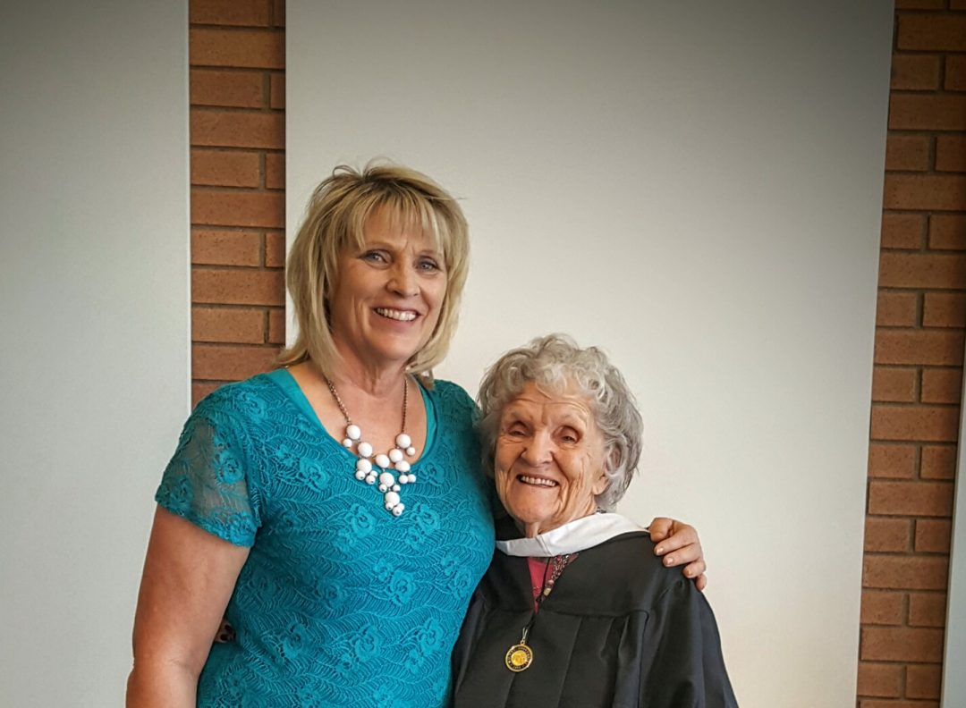 Kat Arnett Ethington and her mother, 92-year-old Anna Arnett. Photo courtesy of Kat Arnett Ethington