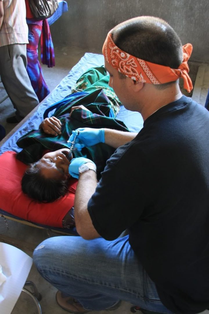 David Erickson, DDS, saw patients in Nepal on a humanitarian trip. Photo Courtesy of David Ericksen