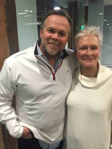 Author Stacy Brimhall and actress Glenn Close, a co-founder of Bring Change 2 Mind Photo courtesy of Stacy Brimhall
