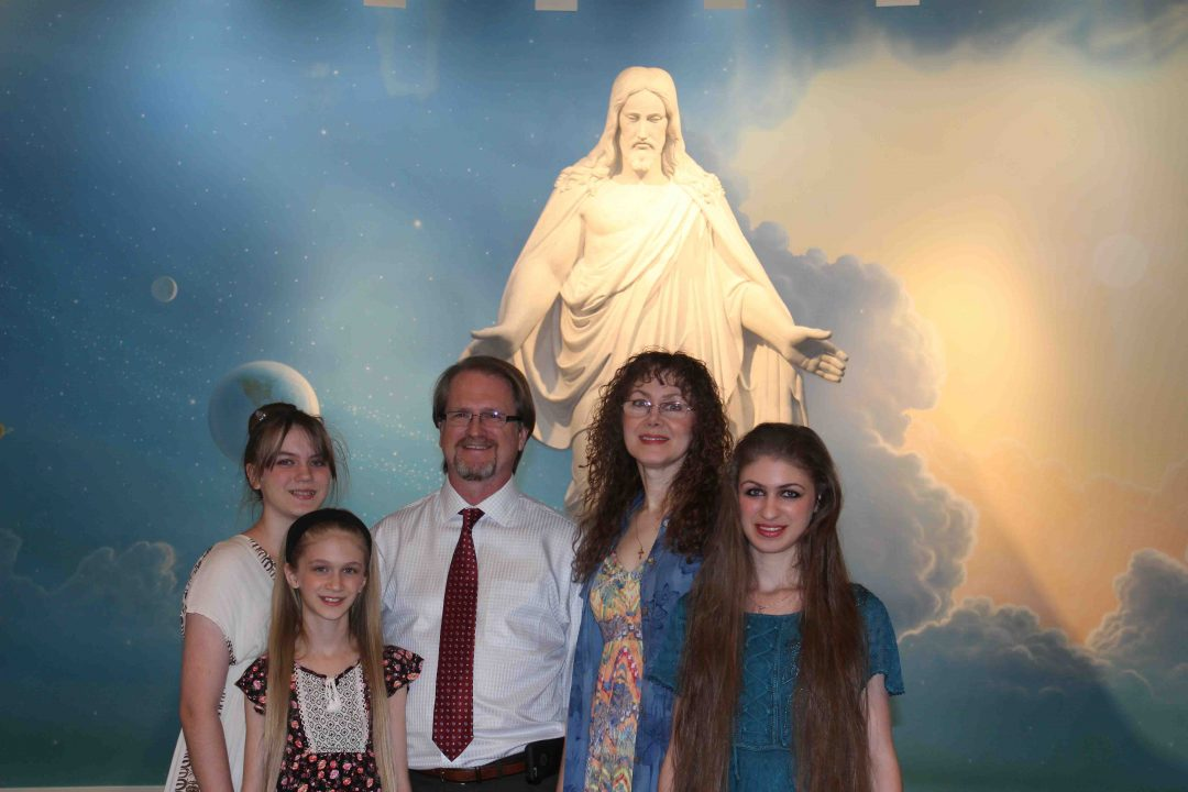 Gene and Kate Romanof and their three youngest daughters (pictured here) were baptized in Cottonwood, Arizona, in April 2015. Photo Courtesy of Emily Boyle