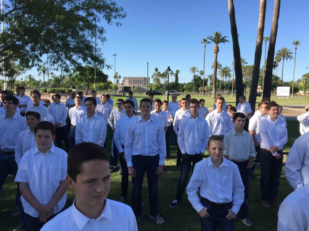 The Young Men of the Mesa Central Stake. Photo by Joe Free