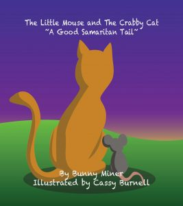 The Little Mouse and the Crabby Cat book cover, illustrated by Cassy Burnell