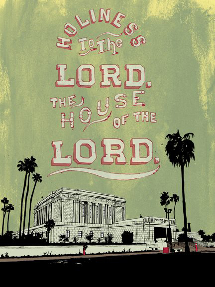 Holy Curations The Mesa Temple Print Is A Popular Seller For The Holy Curations Line. Photo Courtesy Of Holy Curations.