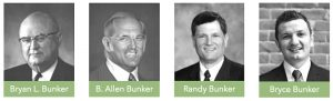Bunker has been family-owned business for over 100 years. Pictured here are Bryan Bunker, B. Allen Bunker, Randy Bunker and Bryce Bunker. Photo courtesy of Bryce Bunker.
