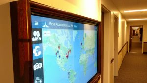 Mesa Hermosa Vista Stake's interactive missionary app display replaces old boards and wall maps.Photo courtesy of Kevin Wade.