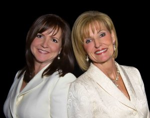 Carla Jorgensen (left) and Debbie Forrest Dayton (right), founders of Time to Blossom. Photo courtesy of Time to Blossom.
