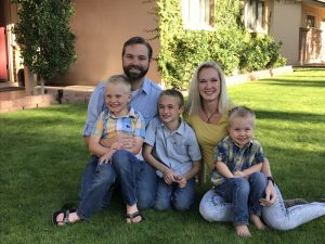 Christopher and Elise Hurst and their three sons. Photo courtesy of Amy Stewart.