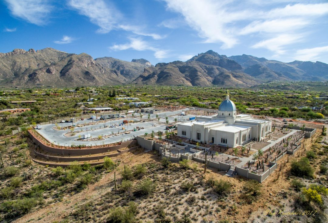 Tucson temple and grounds. Photo by: Stanley J. Kartchner