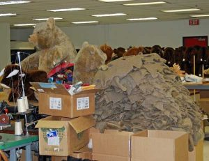 A Small Peak at the Bear Making Process. Photo by the Stuffington Bear Factory