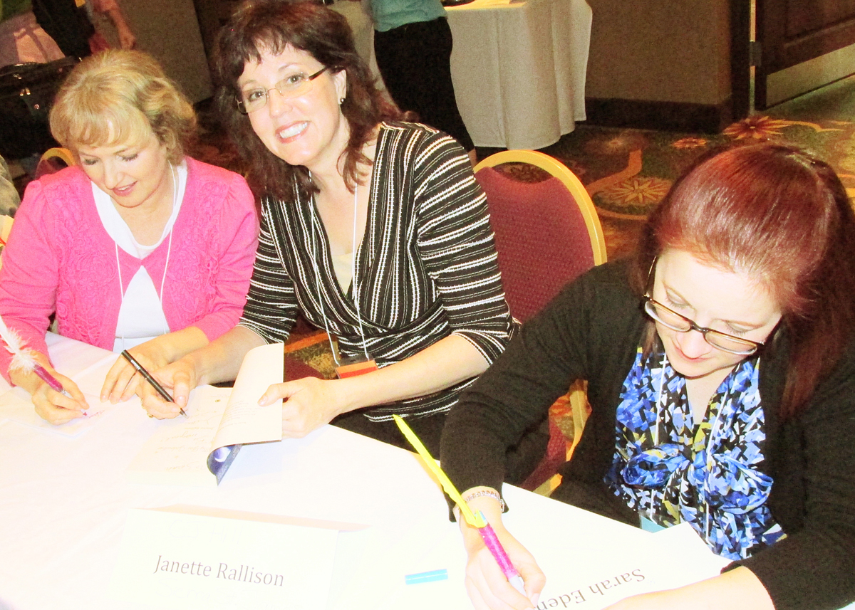 SHORT – ANWA Authors  Donna Hatch, Janette Rallison And Sarah Eden At ANWA Writers Conference. Photo By Cindy R. Williams.