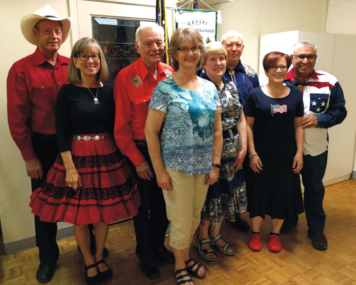 Square Dancing Dancers Marvin & Gwen Lewis, Ballard White & Connie Roberts, Cecilia & Bill Randall, Deborah & Alex Longoria. Photo Courtesy Of Alex Longoria