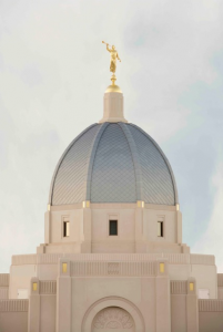 The distinctive cupola and Angel Moroni atop the Tucson Temple. Photo courtesy of Intellectual Reserve, Inc.