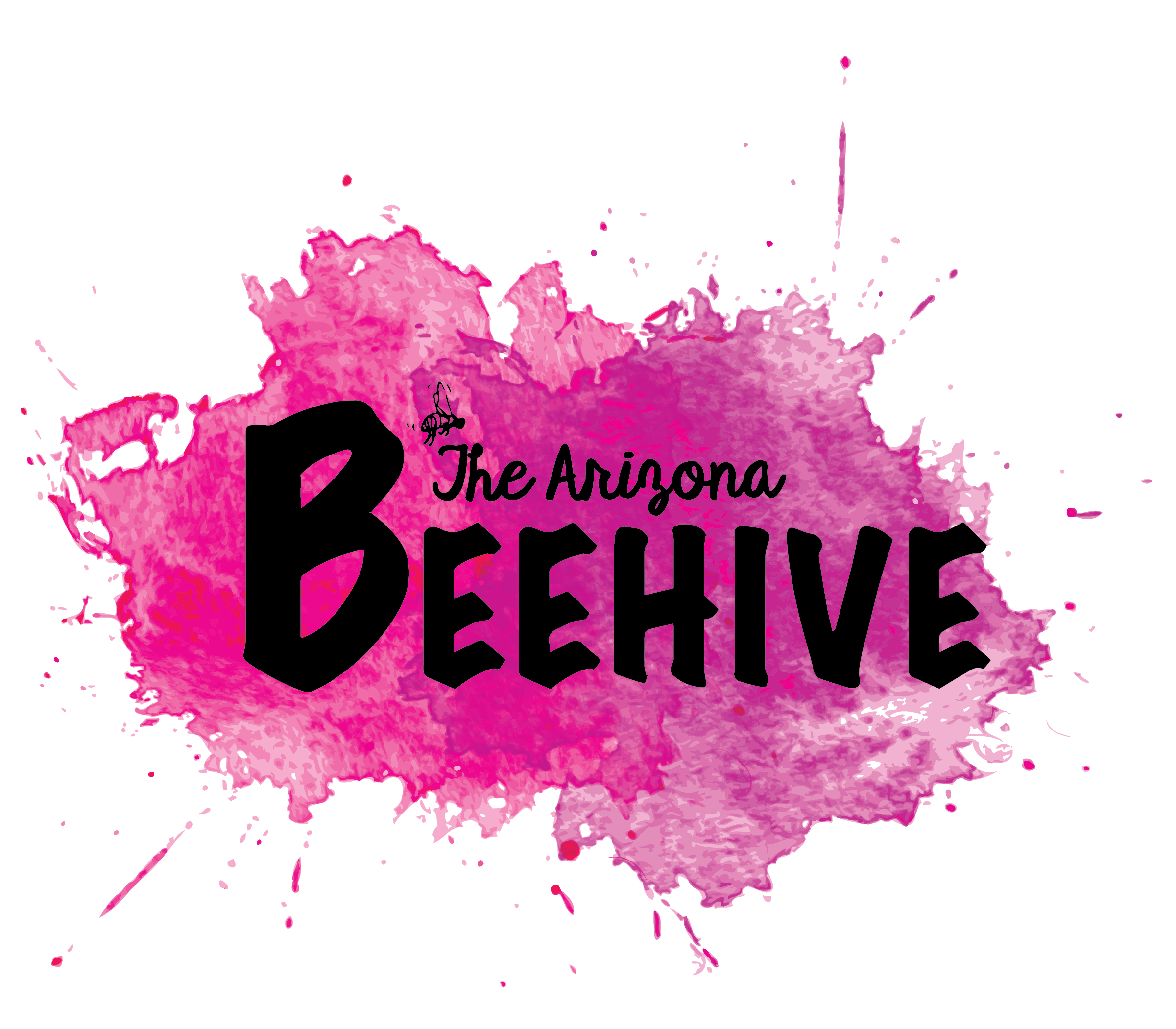 Beehive Logo Splash Fuschia 02