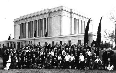 Following the 1927 dedication of the Mesa Arizona Temple, excursions of Latter-day Saints came to the temple from throughout the southern United States, Mexico, and Central and South America. Photo courtesy of theclio.com. Added by Marshall University Libraries User on 2015-07-13.