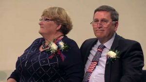 Annette Auxier and her husband, Dr. Gary Auxier, for whom Chandler's Auxier Elementary School is named. Photo courtesy of Chandler Unified School District.