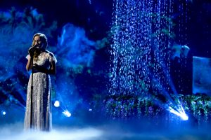 Evie Clair performs in the finals of America's Got Talent, where she placed in the top 10. Photo courtesy of NBC.