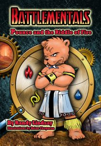 Cover design for Pounce and the Riddle of Fire, by Steve Crompton