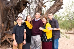 Ethan, Ashley, David, Karyann and Connor Hoopes, photo courtesy of Karyann Hoopes