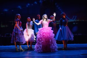 "Hannah Pyper performs ""Once Upon a Time"" from the musical Brooklyn. Photo by Jaren Wilkey/BYU"