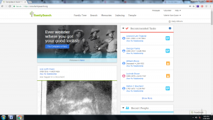 Additions to the FamilySearch home page enables signed-in patrons to easily engage with their family trees.