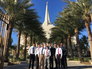 Sixth stop, Gilbert Temple: Left to right: Aaron Burnham, John Burton, Rick Burton Front center Shawn McGarvin, center back Sean Burnham, Yasser Sanchez, Craig LeBaron, Robbie Hughes, Gus Schultz.