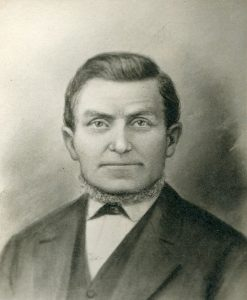 Francis Martin Pomeroy was a member of the first company to enter the Salt Lake Valley with Brigham Young, later helped settle Bear Lake Valley, Idaho, and Mesa, Arizona. Photo courtesy of Francis Martin Pomeroy Family Organization.
